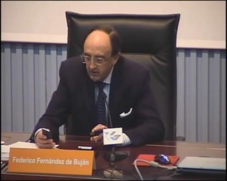 Federico Fernández de Buján, catedrático de Dereito Romano da UNED.
